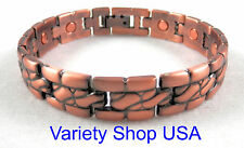 "Unisex Copper Magnetic Therapy 8-1/2"" Alloy Bracelet A1002"