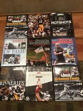 Lot 9 Sports Illustrated Hardcover Books Greatest Feats Rivalries Moments