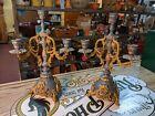 Antique Louis XV FRENCH ROCOCO Candelabras Mantle Clock Garniture Candlesticks