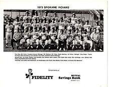1973 SPOKANE INDIANS  8X10 TEAM PHOTO PCL CHAMPS MADLOCK  BASEBALL TEXAS RANGERS