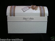 Wedding Chest Post Box Personalised Shabby Chic Vintage  receiving ALL COLOURS