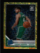 CARSEN EDWARDS 2019/20 OPTIC #196 RATED ROOKIE GOLD FAST BREAK RC #03/10 FC2441