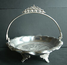 1800's Antique Manhattan Silverplate Company Footed Bowl with Handle