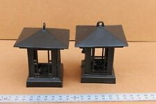 NICE CAST IRON LANTERN WALL SCONCE, CANDLE, PAIR (2) – SHIPS FREE
