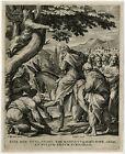 Antique Master Print-LIFE OF CHRIST-ENTRY IN JERUSALEM-Barends-Sadeler-ca. 1600
