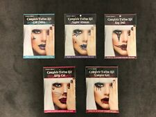 Fright Night Complete Temporary Tattoo Kit for Face Halloween Costume