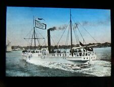 Antique Magic Lantern Colored Glass Slide STATEN ISLAND NYC SHIP BUILDING CO