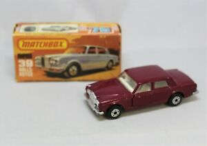 """Matchbox Lesney Superfast No39 ROLLS ROYCE in PLUM with RARER SILVER BASE """""""