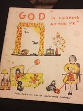 God Is Looking After Me Published In Aid Of Handicapped Children 1968