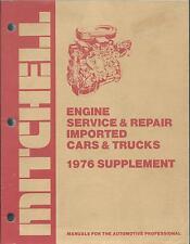 Mitchell 1976 Engine Service Repair Manual Imported Cars Trucks BMW Jaguar Audi