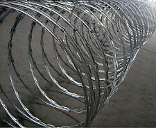 "RAZOR WIRE - 10m x 500mm ""Clipped"" Stainless Steel 22mm standard barbs"