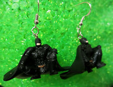 NORA WINN UNIQUE BATMAN Earrings 925 HOOKS CROUCHED DOWN  MOVIE CHARACTERS