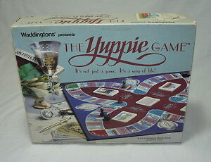 THE YUPPIE CHALLENGE GAME WADDINGTONS 1985 RARE COMPLETE RARE YUPPY