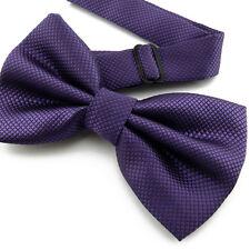 Noeud Papillon pour Homme ou Femme Violet en soie mélangée  Silk Purple Bow tie