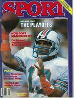 1985 JANUARY Sport Magazine football Dan Marino, Miami Dolphins GOOD