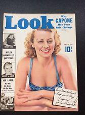1938 LOOK MAGAZINE Joan Blondell, Capone, Hitler, Joe Louis,Dracula Frankenstein