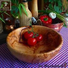2 Wahl -große Olivenholz Schüssel Schale Obstschale Salatschale Dekoschale 30cm