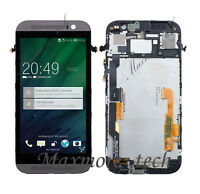 OEM LCD Display Touch Screen Digitizer Assembly Replacement Frame For HTC ONE M8