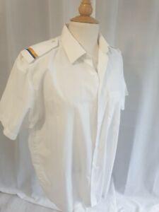 Captain Shirt White Costume Outfit Fancy Dress Corton Shirt L