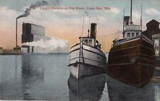 Postcard Cargill Elevator Fox River Green Bay Wi