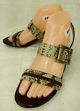 6ef95db91092 Naturalizer N5 Comfort CAMBREE Wos Sandals Heels US 7 M Black Snake Vegan  802