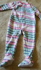 Carter's Girls Fleece Striped Footed Pajamas Sleeper- 18 months- New with tags