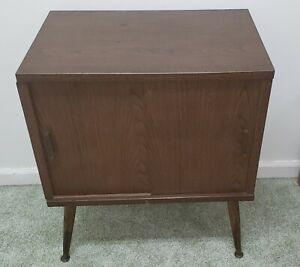 Vintage Lu Van Inc. Mid Century Record Music Cabinet - Vinyl - LP - Storage MCM