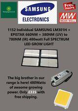 More details for 480w samsung lm301h+660nm ir & uv full spec 4000w-quantum-led-grow-light-board