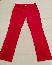 J Crew City Fit Pants Size 27S Red Corduroy