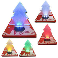 Folding Christmas Tree Card LED Night Light Lamp Fancy Ornament For Kids Bedroom