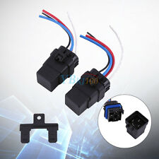 2Pcs DC 12V 40A 4 pin Waterproof Integrated Automobile Relay & Socket w/Holder