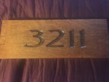 Mission Oak Sign Carved  Your House Number Or Name Custom  Style