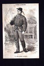 Figurini di minatori - Il minatore d'Anzin Incisione del 1869
