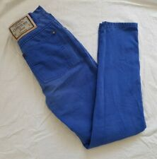 Cerutti Italy 90s High Waist Blue 'Peachskin' Cotton Jeans Euro 34 UK 6 Leg 29