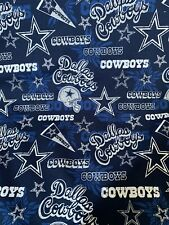 "NFL DALLAS COWBOYS HOMETOWN LOGO COTTON FABRIC READY TO SHIP 1/4 YARD - 9"" X 58"