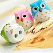 Cute Plastic Owl Pencil Sharpener Cutter Stationery Kids School Office Handy Hot