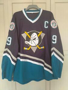 KARIYA 9# ANAHEIM MIGHTY DUCKS JERSEY ICE HOCKEY NHL SIZE LARGE 50 PURPLE