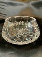 waterford crystal Curved bowl Candy Dish Vase - Signed e729