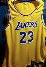 Nike Nba auténtico Los Angeles Lakers Jersey Lebron James #23 2XL Nueva con etiquetas