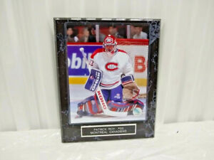 Patrick Roy Montreal Canadiens 10 1/2 x 13 Black Marble Plaque With 8x10 Photo