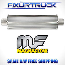 "MAGNAFLOW 7"" Universal Round Stainless Muffler Satin Finish 3"" In/Out 13743"