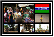 THE GAMBIA, WEST AFRICA - SOUVENIR NOVELTY FRIDGE MAGNET - SIGHTS - GIFT / XMAS
