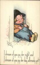 Charles Twelvetrees - Little Boy Asleep in Doorway c1915 Postcard