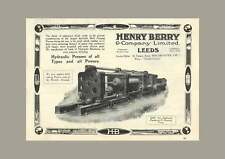 1922 Henry Berry And Company Ltd, Leeds, Hydraulic Presses Of All Types