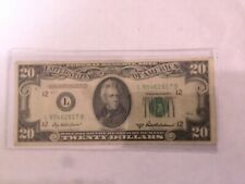 Better 1950 $20.00 US Federal Reserve Note Bill $20