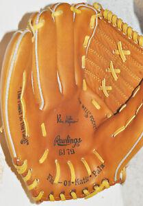 Vintage Rawlings GJ79 Ken Holtzman Left Hand Thrower Lefty EUC Right Hand Glove