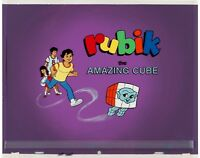 Rubik the Amazing Cube Title Cel and Production Background Rubik's obg RARE!