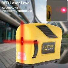 360° Laser Level 2 Line 1 Point Horizontal & Vertical Red Measure Hot