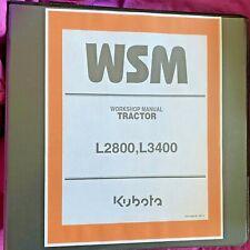 Kubota L2800 L3400 TRACTOR  Workshop Service Repair Manualbinder