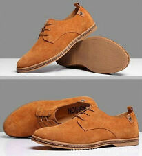 Suede European style leather Shoes Men's oxfords Casual Shoes Fashion Camel us10